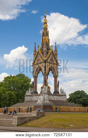 The Albert Memorial in Kensington Gardens,