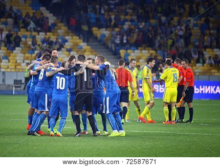 Euro 2016 Qualifying Game Ukraine Vs Slovakia