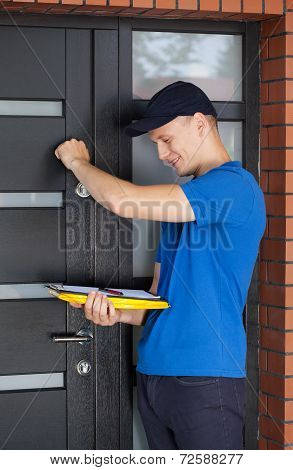 Delivery man Knocking On Door