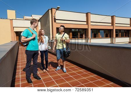 Diverse Students After School