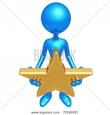 Holding A Gold Star