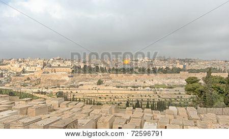 Mount Of Olives, Dome Of The Rock, Temple Mount, Jerusalem, Israel