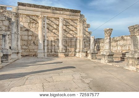 White Synagogue Of Capernaum, Israel