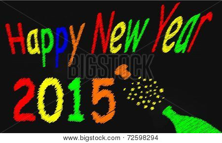Happy New Year Blackboard 2015
