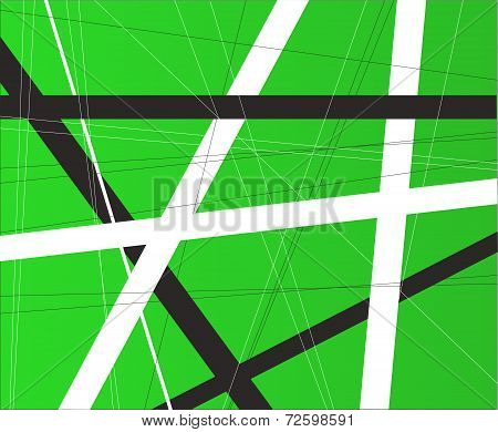 Green Criss Cross Background
