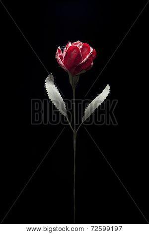 a handmade flower