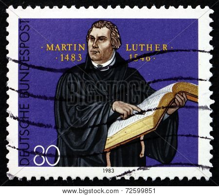 Postage Stamp Germany 1983 Martin Luther German Priest