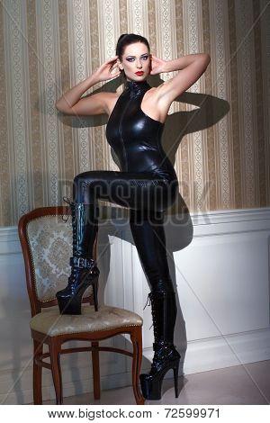 Sexy Woman Bdsm Posing