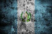 Постер, плакат: Grunge Flag Of Guatemala With Capital In Guatemala City