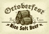 pic of drawing beer  - illustration on the theme of the Oktoberfest beer festival - JPG