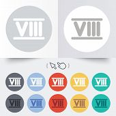 stock photo of roman numerals  - Roman numeral eight sign icon - JPG
