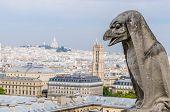 image of gargoyles  - One of the gargoyles in Notre Dame Cathedral - JPG