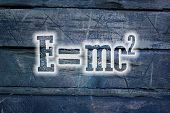 image of einstein  - Albert Einsteins Physical Formula Concept text on background - JPG