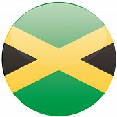 picture of jamaican  - a round badge with the jamaican flag on a white background - JPG