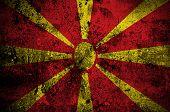 foto of macedonia  - grunge flag of Macedonia with capital in Skopje - JPG
