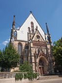 pic of leipzig  - Thomaskirche St Thomas Church in Leipzig Germany where Johann Sebastian Bach worked as a Kapellmeister and the current location of his remains - JPG