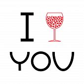 picture of glass heart  - Wine glass with hearts inside - JPG