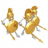 stock photo of hoplite  - Spartans - JPG