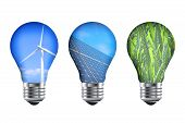picture of turbines  - Renewable energy light bulbs - JPG