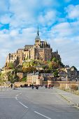 image of mont saint michel  - road to Abbey of Mont Saint Michel - JPG