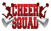 image of cheerleader  - Illustration of a cheer squad design for cheerleaders - JPG