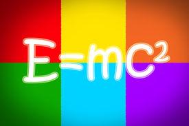 picture of einstein  - Albert Einsteins Physical Formula Concept text on background - JPG