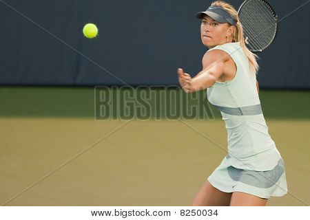 STANFORD UNIVERSITY, CA - JULY 27: Maria Sharapova, Russia, plays at the Bank of the West Classic