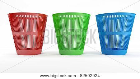 Three Waste Bins