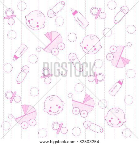 Baby Girl Seamless Pattern