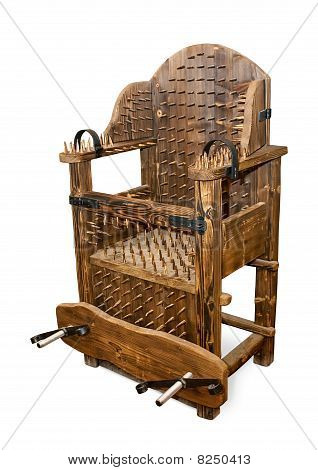 The ancient armchair for tortures