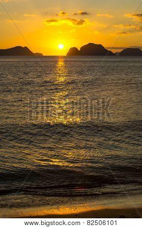 sunset on the Philippine Islands