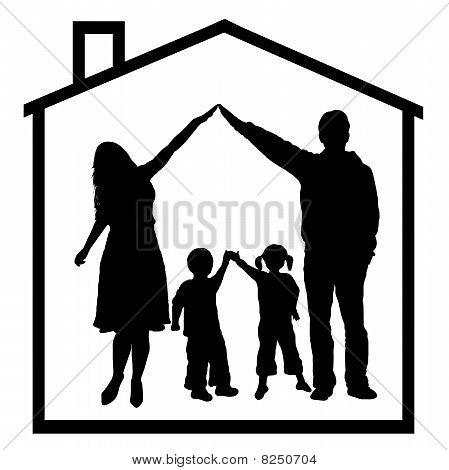 family silhouete
