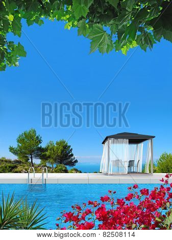 poolside summer vacations scenery