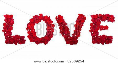letters of love flower petals