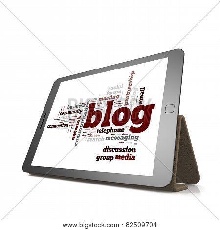 Blog Word Cloud Cloud On Tablet
