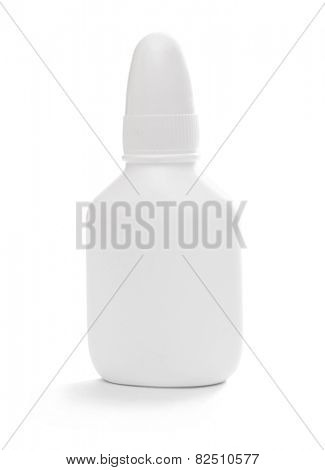 white tube isolated on white background