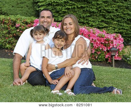 Good looking family outdoor portait