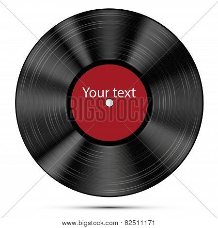 Vector illustration of a vinyl record.