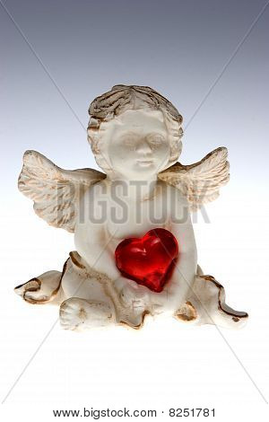 Cupid With Red Heart