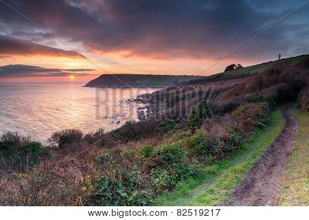 Sundown Over Talland Bay