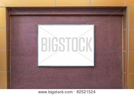Blank Billboard On Wall Building