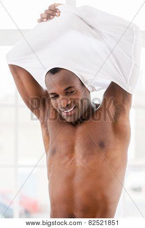 Man Undressing.