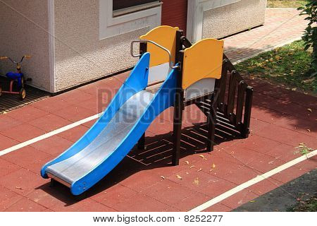 Slide in a kindergarten