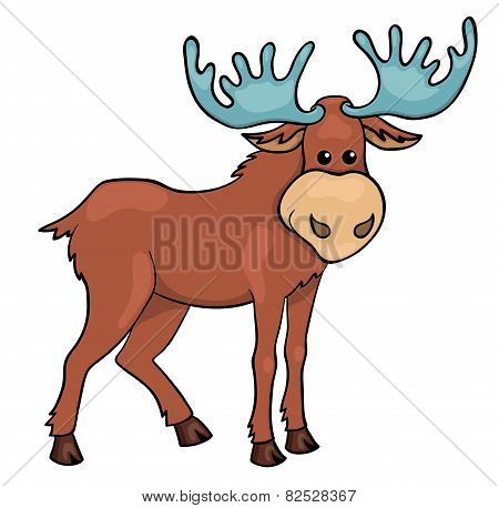 Elk Isolated On White