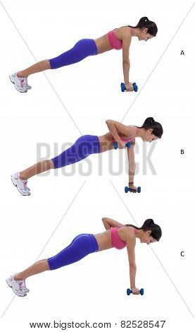 Plank Row Jack
