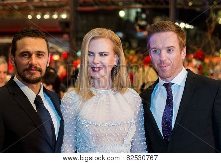 BERLIN, GERMANY - FEBRUARY 06: Nicole Kidman, Damian Lewis, James Franco,'Queen of the Desert' premiere. 65th Film Festival at Berlinale Palace,  February 6, 2015 in Berlin, Germany.