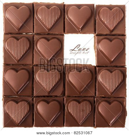 Chocolate hearts for Valentine's Day