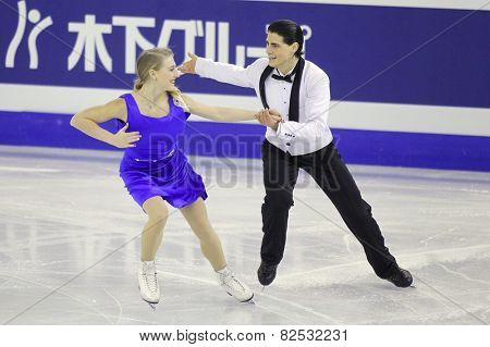 BARCELONA - DEC, 13: Piper Giles and Paul Poirier from Canada during Pairs Ice Dance event of ISU Grand Prix of Figure Skating Final 2014 at CCIB on December 13, 2014 in Barcelona, Spain
