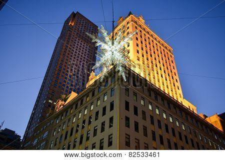 Holiday Decorations, Manhattan, Ny