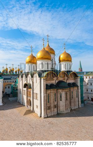 Russia. Moscow. Assumption Cathedral of Kremlin Orthodox Church, Patriarchal Catedral.
